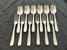 CHRISTOFLE DAX 6 couverts de table 12 pieces // Set 6 table fork & spoons ++++