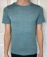 Lululemon Mens Size S Metal Vent Tech Surge SS Blue Gray AMAZ/CAST Short Sleeve