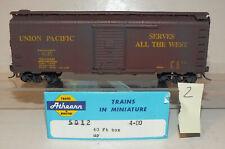 Union Pacific 40' Box Car   Kadee Couplers  Athearn