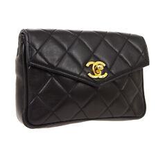 CHANEL Quilted CC Belt Waist Bum Bag Back Leather AK38576k