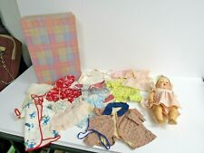 1950's Amer. Char. Tiny Tears Doll With Outfits & Case