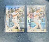 2020 Topps Chrome Corey Seager Refactor And Base Card LA Dodgers #196 Lot