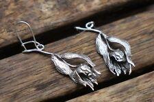 Silver Flower Earrings, Flower Earrings, Sterling Silver Earrings, UK Handmade