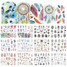 Dreamcatcher Feather Nail Water Decals Owl  Nail Art Transfer Stickers