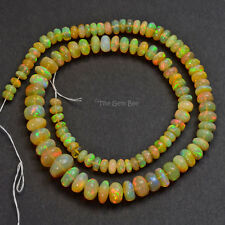 "4.8mm-10.5mm Fine Ethiopian Welo Opal Huge Smooth Rondelle Beads 15.5"" Strand"