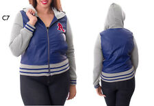 C7 New Ladies Blue Plus Size 14/16 Warm Winter Hoodie Baseball Jackets Outerwear