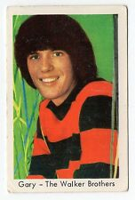 1960s Swedish Pop Star Card Singer and Drummer Gary Leeds The Walker Brothers