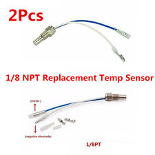 2x 1/8 NPT Oil Or Water Temperature Temp Car SUV Auto Gauge Sensor Sender Probe