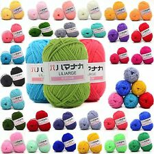 NEW 42 colors Soft Cotton Bamboo Crochet Knitting Yarn Baby Knit Wool Yarn M