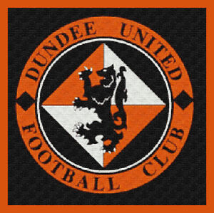 Football Crest Cross Stitch Chart  12.0 x 12.0 Inches .Tangerines