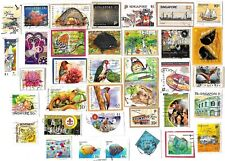 SINGAPORE - Selection of Stamps on Paper from Kiloware