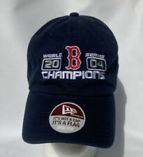New Boston Red Sox 2004 World Series Champions New Era Hat Blue Adjustable Cap !