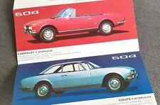 PEUGEOT 204 Coupe Cabrio 304 404 504 Coupe Cabrio Prospekt Brochure AL