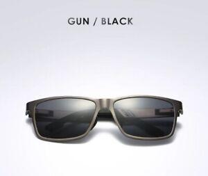 Polarized Fishing Sunglasses Carbon fiber Magnesium frame mirrored UVA UVB GUBLK