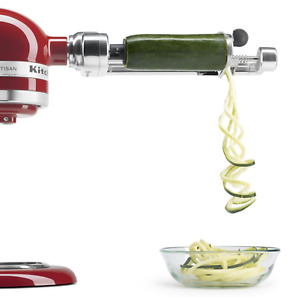 Kitchen Aid Spiralizer Stand Mixer Attachment Peel/Core/Slice 5 Blades KSM1APC