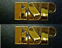 ESP Guitar Headstock Logo DIE-CUT Decal, LOT x1, Luthier 0.4% Gold Leaf, OEM