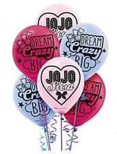 "New JoJo Siwa 12"" Latex Balloons Pink Blue  Birthday Party 6 Pk Dream Crazy Big"