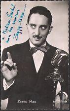 Zappy Max. Photographie signée adressée à André Vendeuil. Vers 1952
