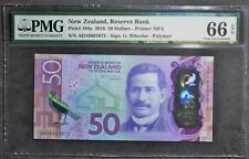 NEW ZEALAND - $50 DOLLARS - 2016 - POLYMER - PICK# 194a - PMG - GEM UNC 66 - EPQ