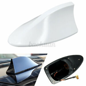 AU Universal Shark Fin Style Car Roof Radio AM/FM Signal Aerial Antenna White