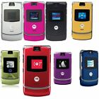 Motorola RAZR V3 Unlocked flip Mobile Phone New Boxed 10 Colours Red/Pink/Gold