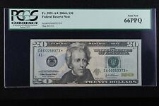 $20 2004A Star PCGS 66 PPQ Federal Reserve Note GA00059373* series A, FREE SHIP.