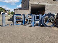 8 STÜCK XXXL 1,5m hoch alte Leuchtbuchstaben Metall Loft Industrie Design