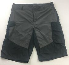 Men's Green and Gray Reebok CrossFit Fitness Athletic Workout Shorts Size 38