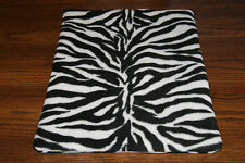 New Zebra Animal Print Fleece Dog Cat Pet Carrier Blanket Free Shipping Help Bcr