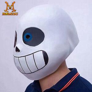 Game Undertale Mask Sans Papyrus Helmet Latex Halloween Cosplay Props Costume