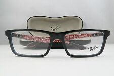 Ray-Ban RB 8901 2000 Carbon Fiber Black/Red New Authentic Eyeglasses 55mm w/Case