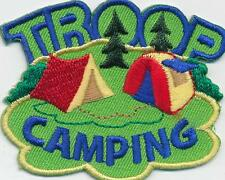 Girl Boy Cub TROOP CAMPING tents green Patches Crests Badges SCOUT GUIDE Iron On