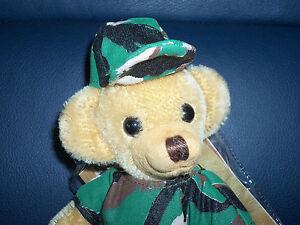 "NWT 6"" Merrythought Cheeky Camouflage Mohair Teddy Bear Ltd Ed # 52 of 250 New"