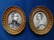 PRINTED  PORTRAIT  MINIATURES  OF  QUEEN  VICTORIA  AND  PRINCE  ALBERT