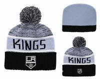 Los Angeles Kings NHL Hockey Beanie Cap Knit Warm Winter Pom Hat Fleece lined