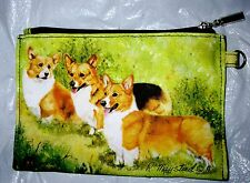 WELSH CORGI Zippered Pouch by Maystead / full color both sides