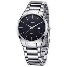 CURREN Men Military Stainless Steel Analog Date Sport Quartz Wrist Watch Fashion