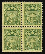 Latvia 1931 SC 155 MNH wmk right block of 4 . b9098