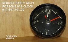 **REBUILT EARLY PORSCHE 911 OEM  CLOCK  ( 69-73 911) 911.641.701.00**