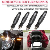 4x Universal 9 LED Motorrad Blinker 10mm Quad ATV Roller Licht-Anzeige Blink