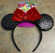 New Disney MINNIE Red Sparkle Costume Ears Headband