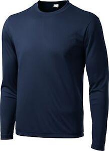 NEW Men's SPORT TEK Dri-Fit Big & Tall Long Sleeve T-SHIRT LT-4XLT TST350LS