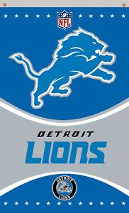 Detroit Lions football team Memorable Black flag 90x150cm 3x5ft best banner