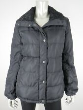 Prada Puffer Coat Black Sz 10 M 46 Quilted Nylon Down Winter Jacket Italy Womens