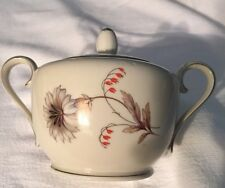 VINTAGE China Sugar Bowl & Lid W Flower BAVARIA TIRSCHENREUTH 100 GERMANY