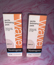 2 Neutrogena WAVE Gentle Exfoliating 30 Pad Refill NEW Sealed DISCONTINUED 9/13