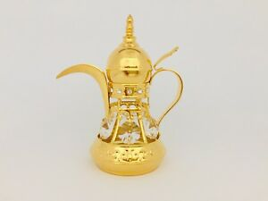 Arabian Teapot - FIGURINE - ORNAMENT 24KT GOLD PLATED WITH AUSTRIAN CRYSTALS