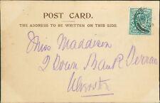 Miss Maddison. 2 Town Bank Terrace, Ulverston, Cumbria. 1903.  RH.299