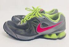 Nike Reax Womens Size 7.5 Shoes Reax Run 7 Gray Pink Green Tennis Shoes Sneakers
