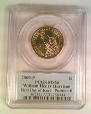 2009-P Presidential Dollar William Harrison PCGS MS66 Position B First Day